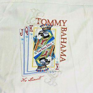 Tommy Bahama Silk Panel Shirt XL Tall Playing Card